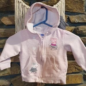 Size 2 Peppa pig pale pink Jacket